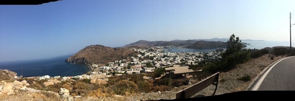 uitzicht vanaf Chora