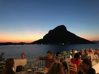 Uitzicht vanaf Aegean Tavern
